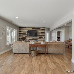 Walk-Out Basement in Craftsman Style Ranch Home