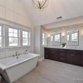 Farmhouse Style Home Master Bathroom