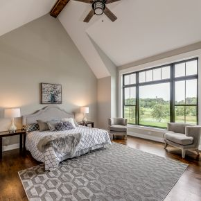 Master Bedroom in Custom Modern Farmhouse