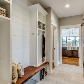 Mudroom in Custom Modern Farmhouse